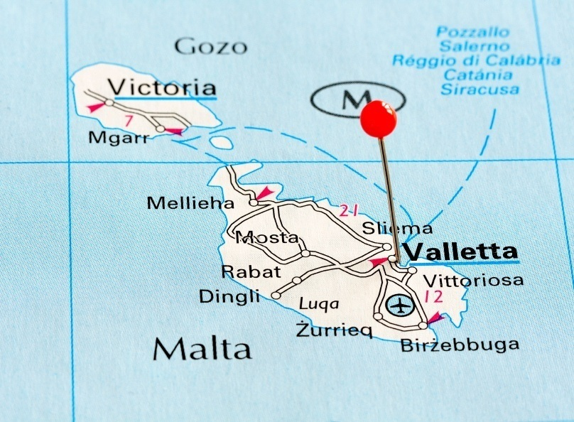 map malta mediterranean islands