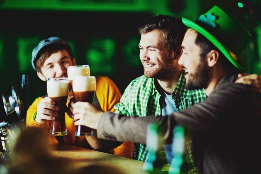 saint patrick's day group beer toast cheers