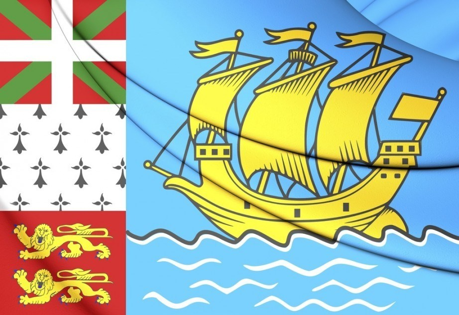 saint pierre miquelon flag boat lion france
