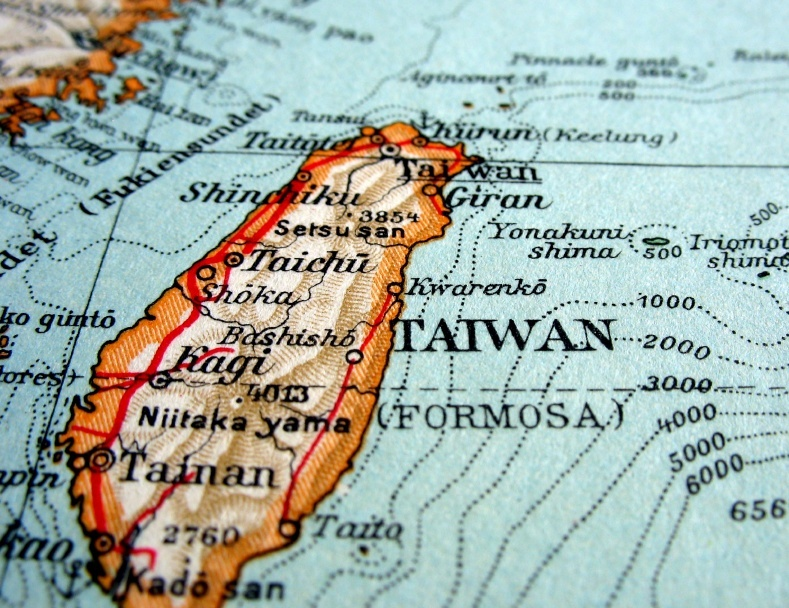 taiwan map east asia island china