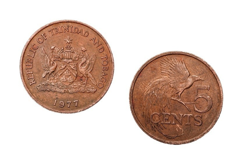 trinidad tobago dollar coins back front copper