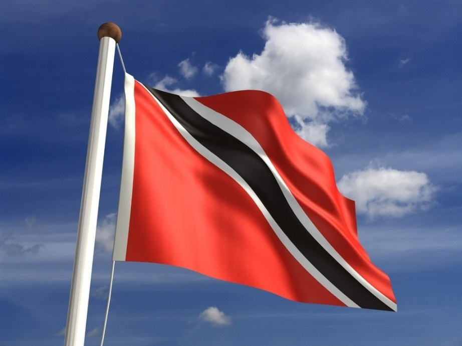 trinidad and tobago flag red black stripe white