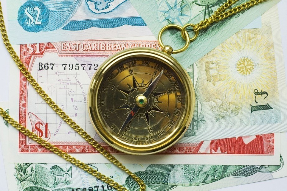 eastern caribbean dollar compass money cash travel