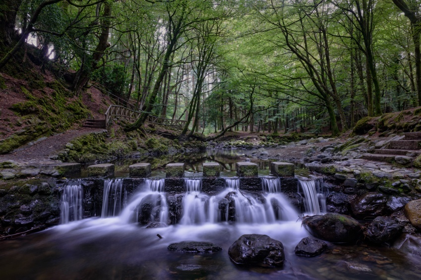 game of thrones northern ireland waterfall forest stream trees
