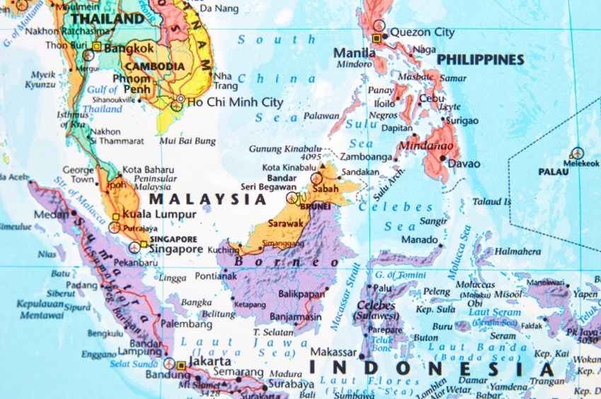 map malaysia southeast asia indonesia philippines thailand