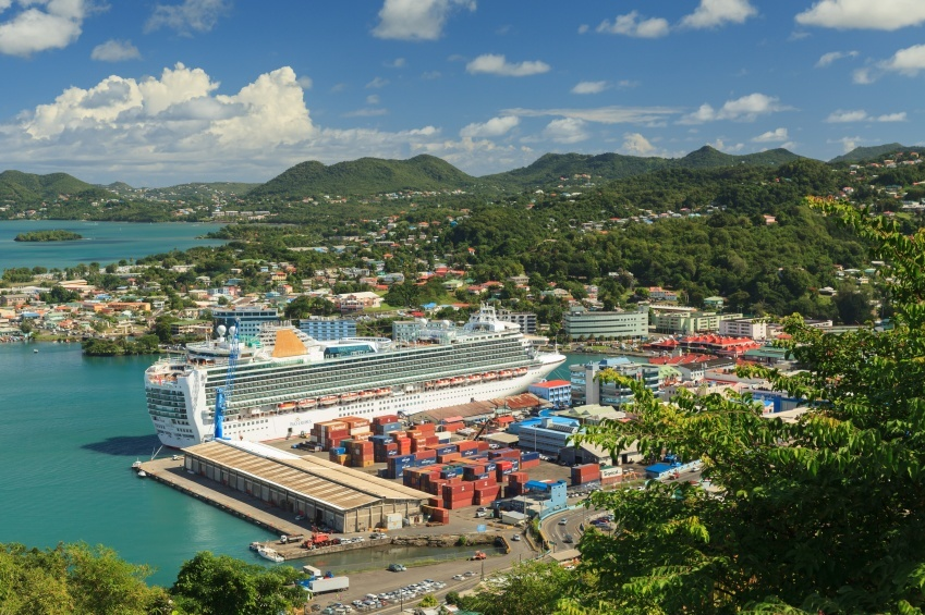 castries saint lucia port cruise ship city docks
