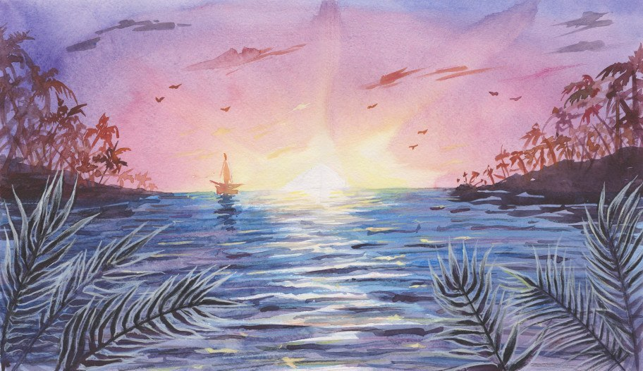 seven kingdoms game of thrones song of ice and fire water painting sun reeds