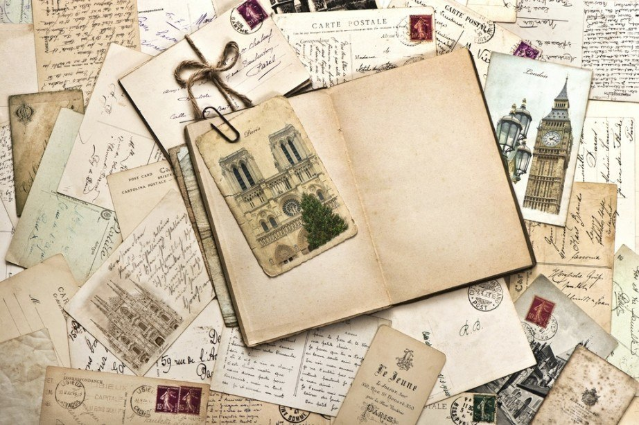 travel diaries journal vintage postcards notre damn paris london