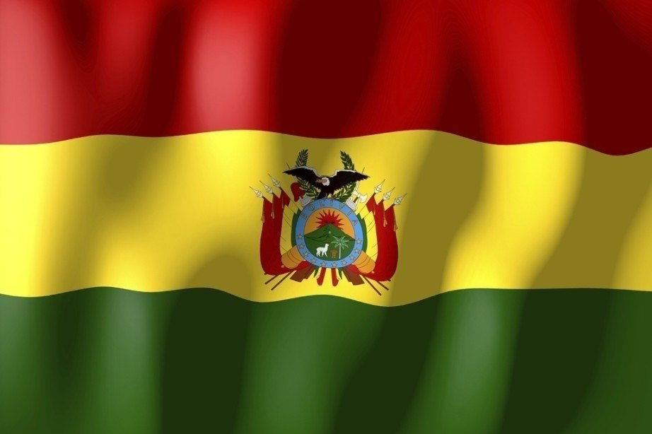 bolivia flag red white green crest