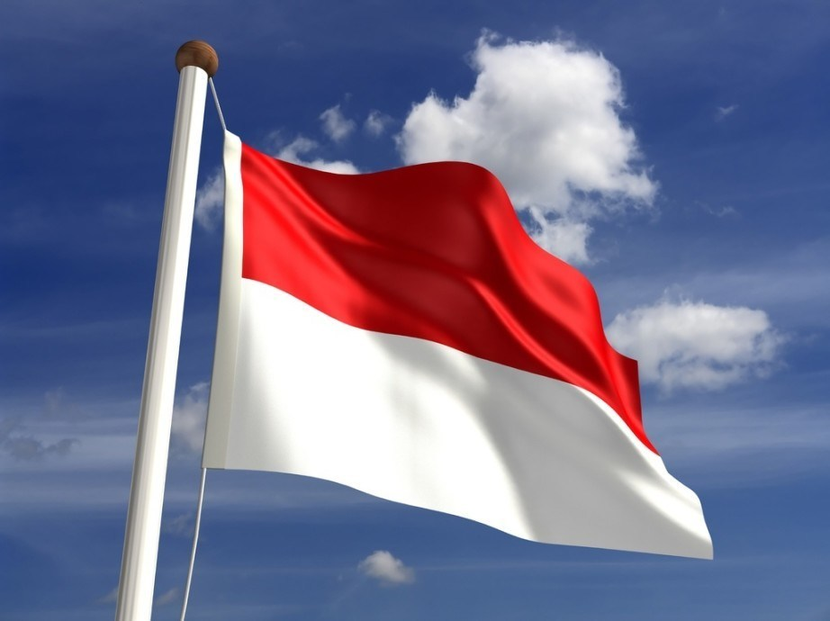 indonesia flag red white