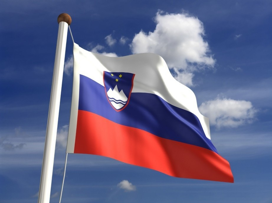 slovenia flag red white blue crest