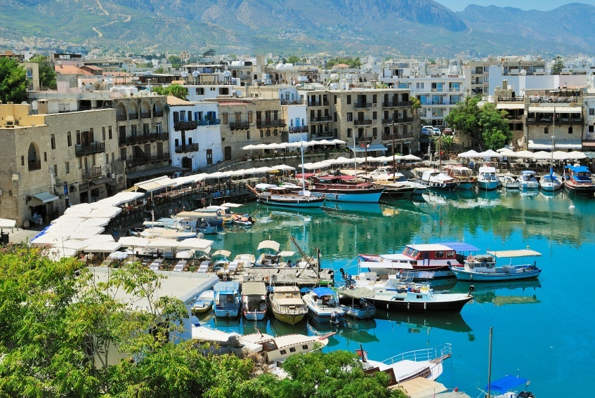 kyrenia cyprus harbor boats waterfront northern turkish