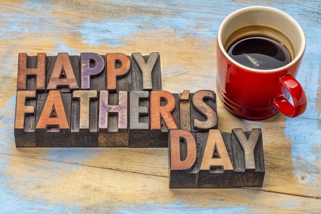 father's day happy coffee mug wood