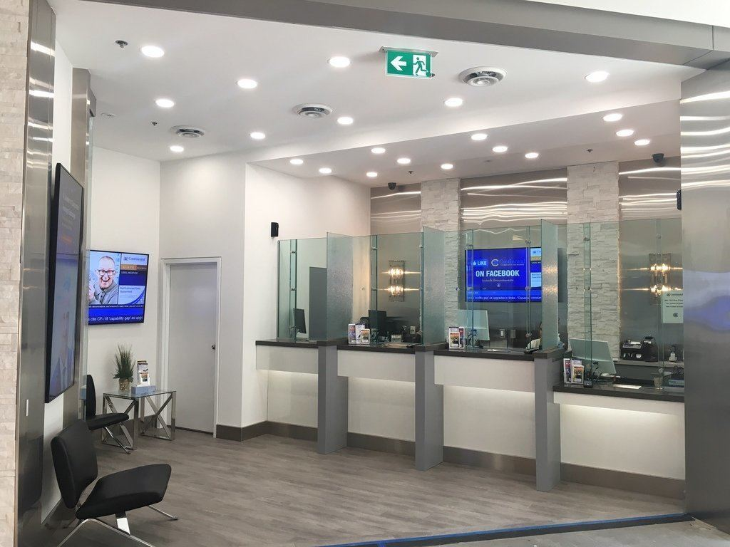 london renovations branch glass new improved continental currency exchange