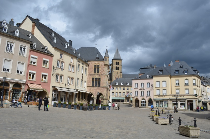 echternach luxembourgh main square town city people