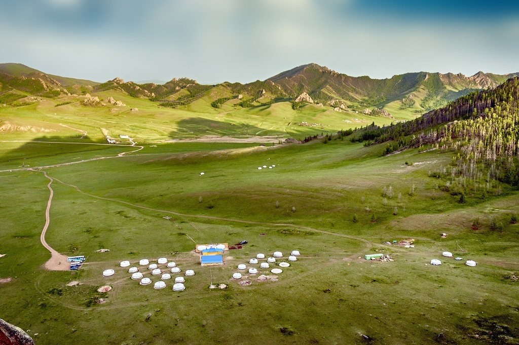 visit mongolia ger yurt steppe mountains landscape
