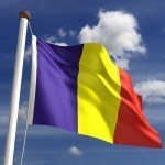 flag romania red yellow blue stripes vertical