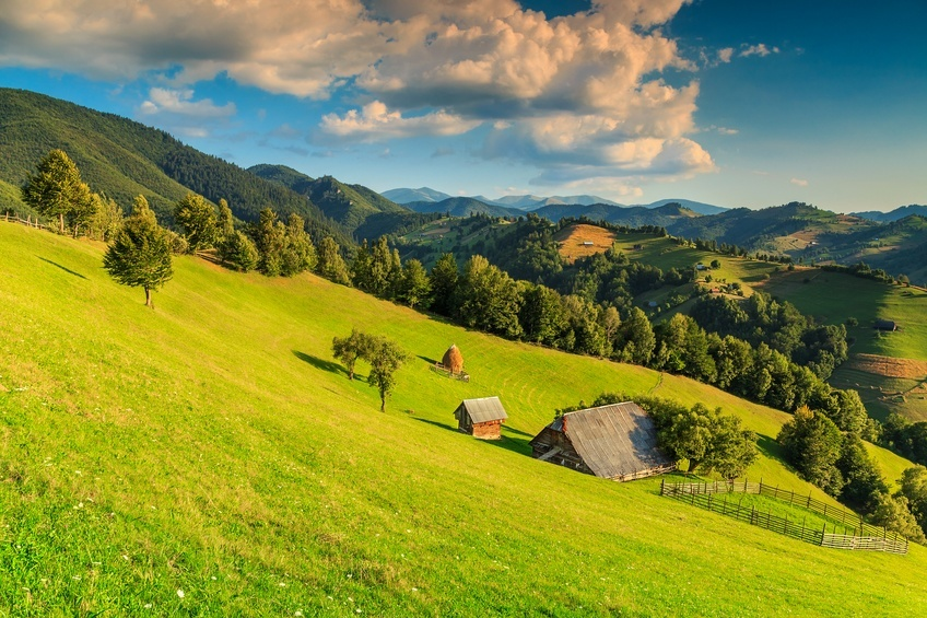 transylvania landscape house hill mountains idylicc