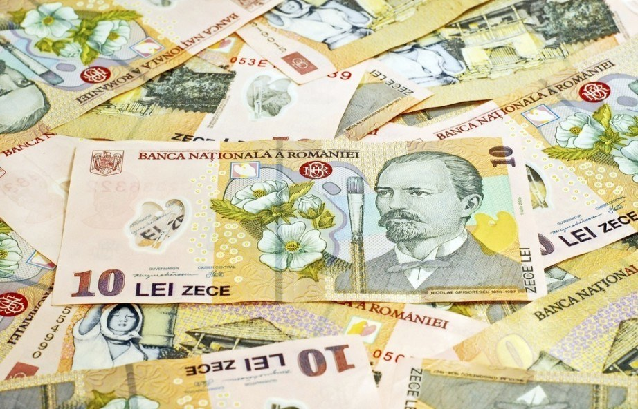 romanian leu bills 10 portrait money cash