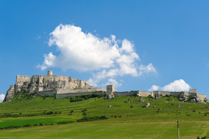 spit castle fortress large massive europe slovakia cloud blue sky