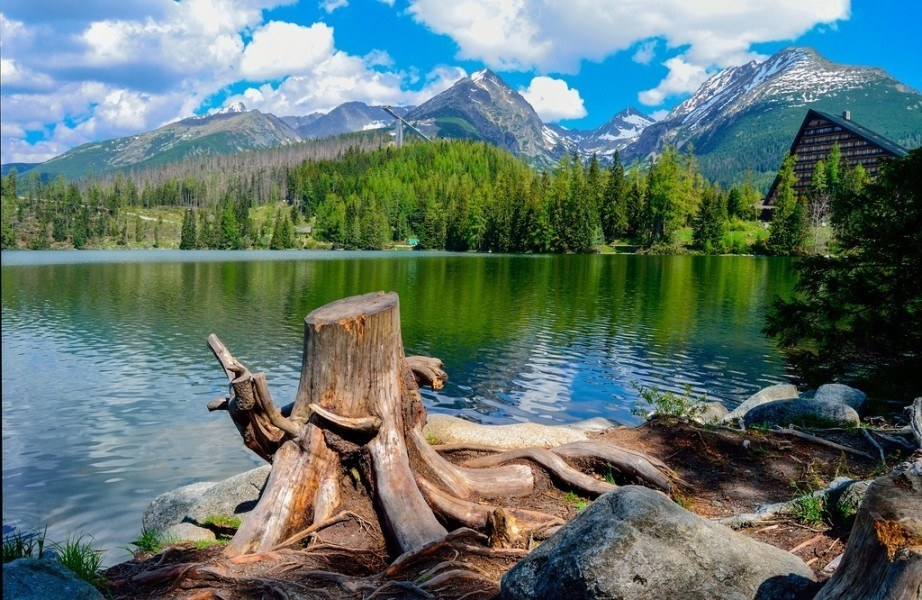 visit slovakia tarts lake stump nature landscape mountains