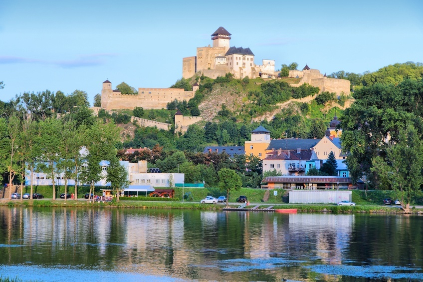 trencin slovakia castle hill fortress water