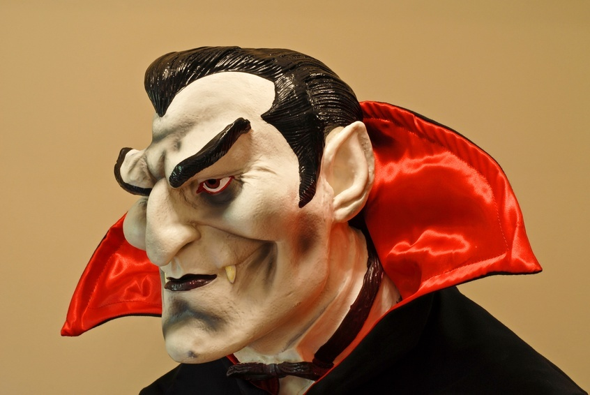 count dracula sculture red black vampire