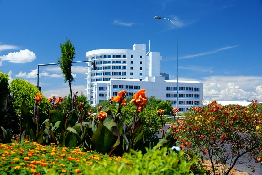 gaborone modern city botswana capital new white building