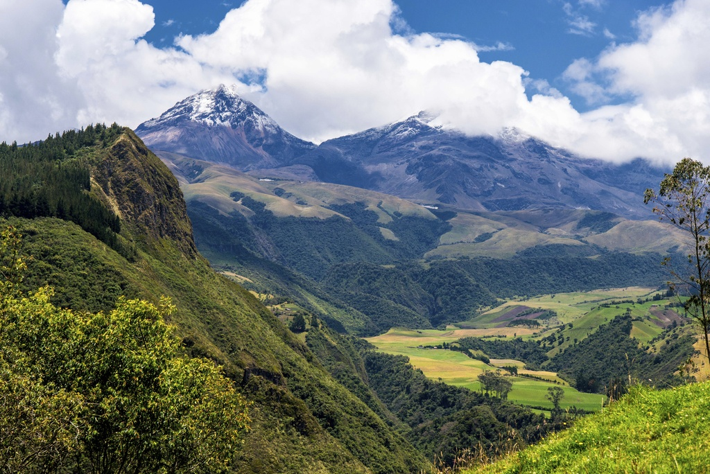 mountains forest clouds ecuador nature landscape