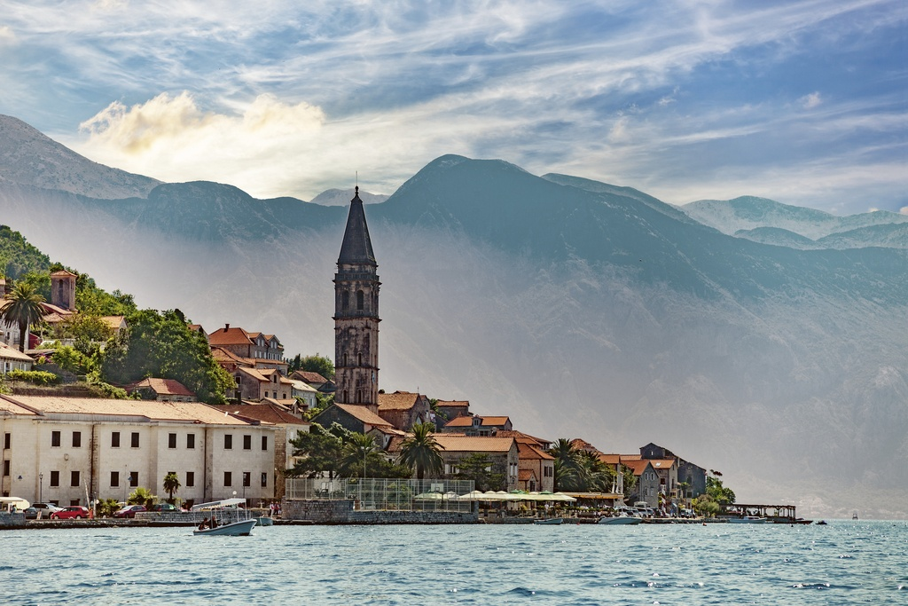kotor bay montenegro tower church town