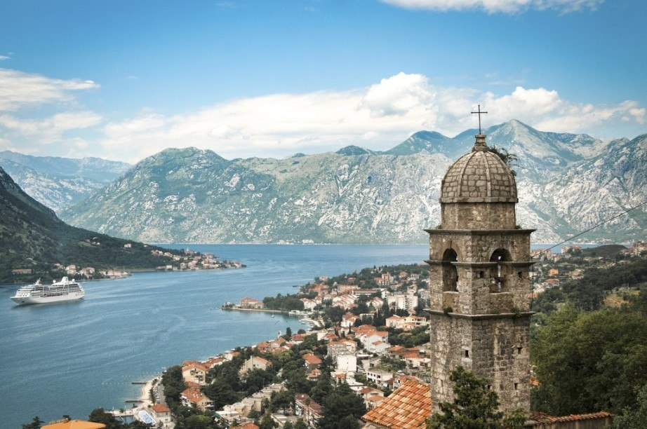 montenegro tourism bay of kotor church adriatic mountains town