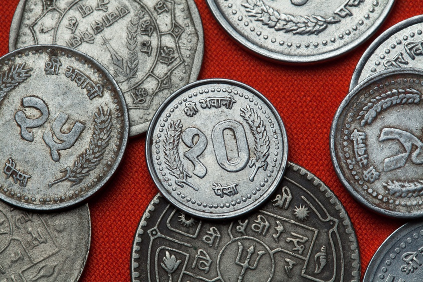 nepalese rupee coins money