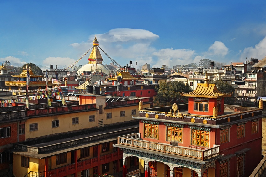 kathmandu city nepal roofs cultural heritage daytime sunny