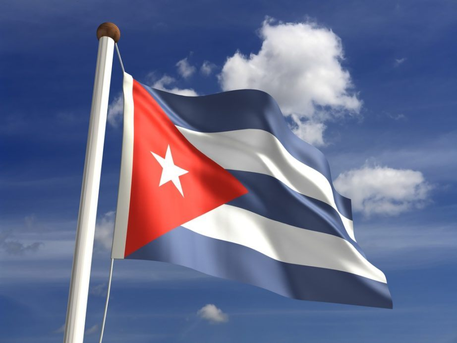 cuba flag star red white blue stripes