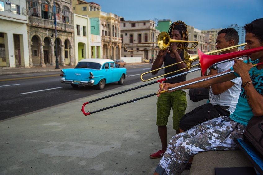 cuba havana street music musicians trombone group friends