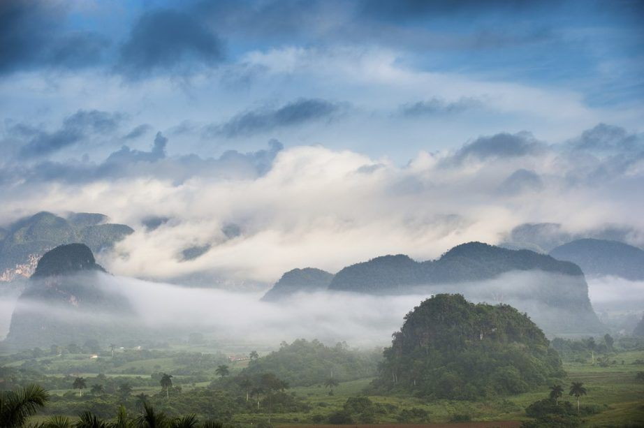 cuba travel vinales valley pinar de rio tobacco hills clouds mist fog