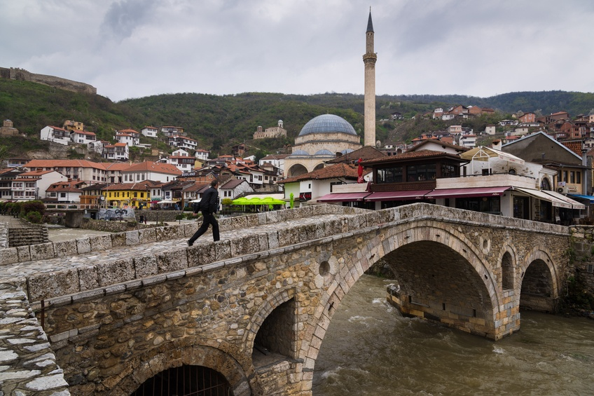 kosovo prizren city bridge classical architecture mosque