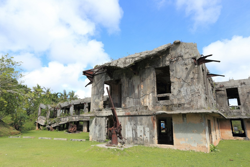 palau japan usa military abandoned fort