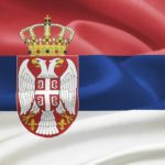 serbia flag red white blue coat of arms