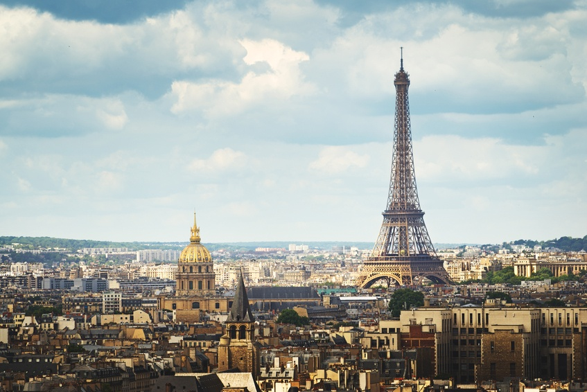 paris france eiffel tower landmark city view