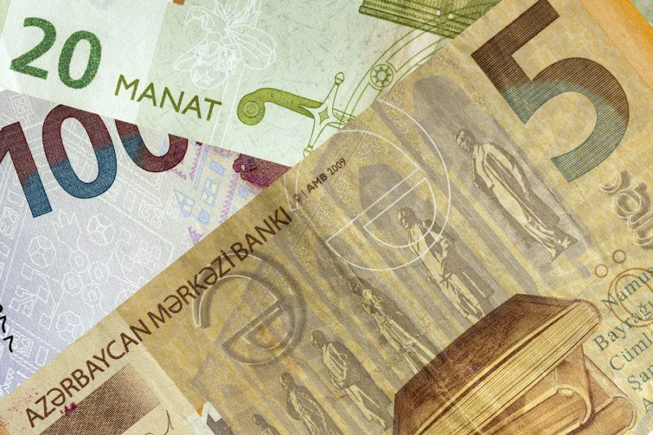 azerbaijan currency manat bills notes cash