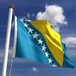 bosnia and herzegovina blue yellow stars flag