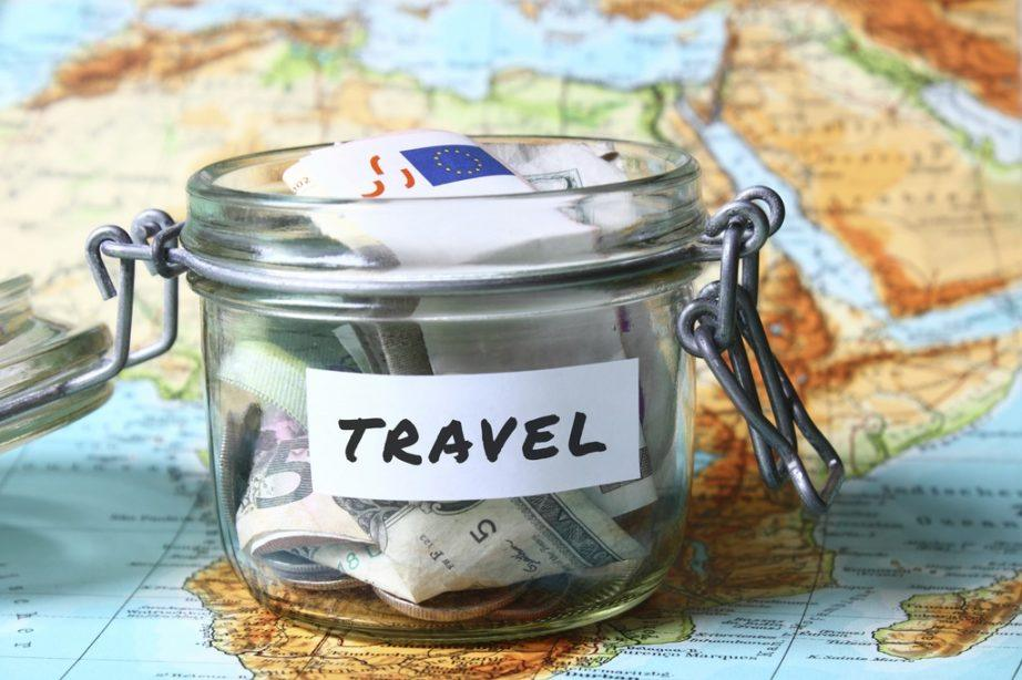 cost guide continental travel map jar money cash