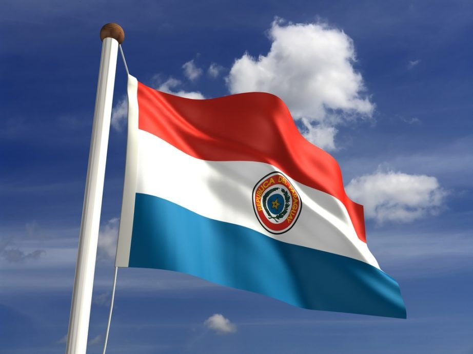 paraguay flag red white blue seal crest coat