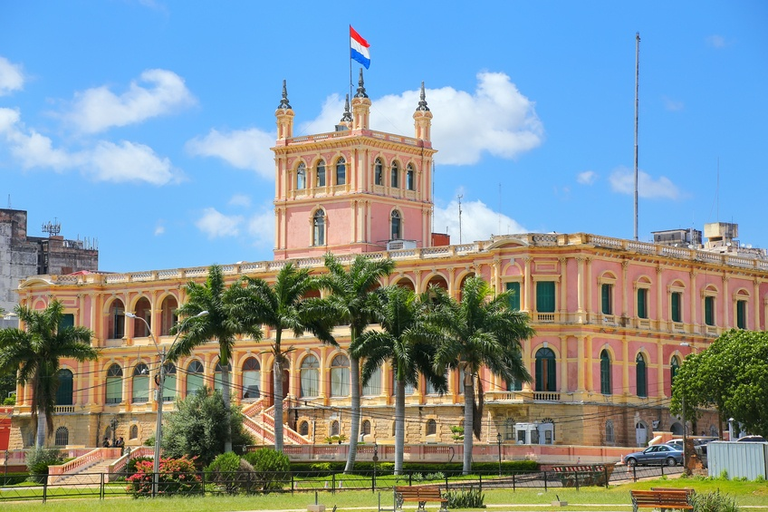 paraguay presidential palace flag government