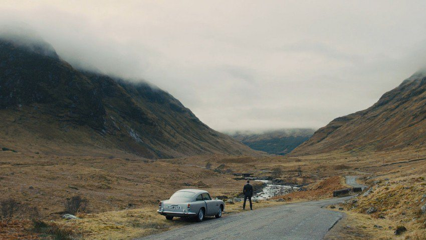 glencoe scotland james bond daniel craig highlands car cloudy