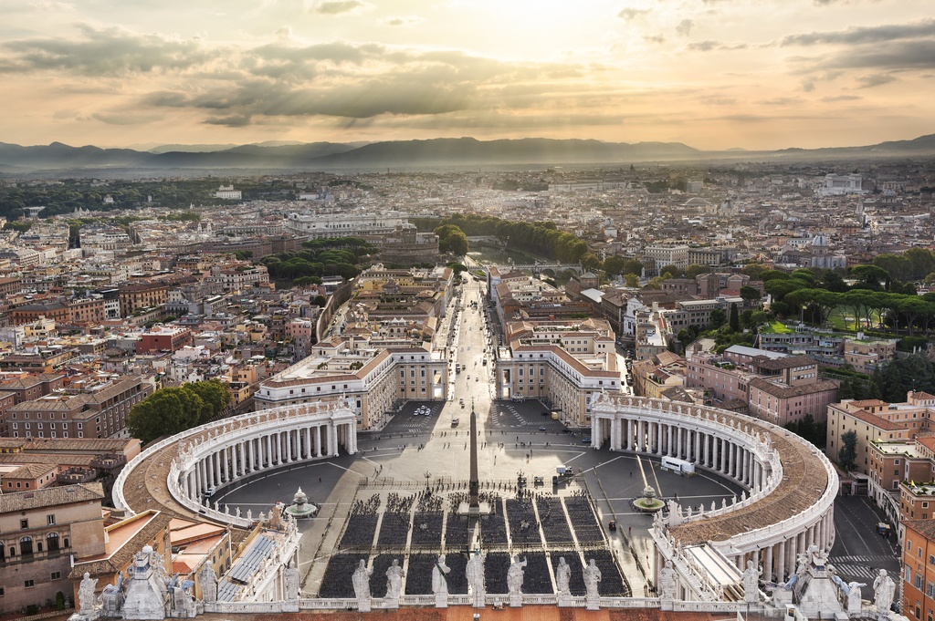 vatican city st. peter's square bernini rome italy