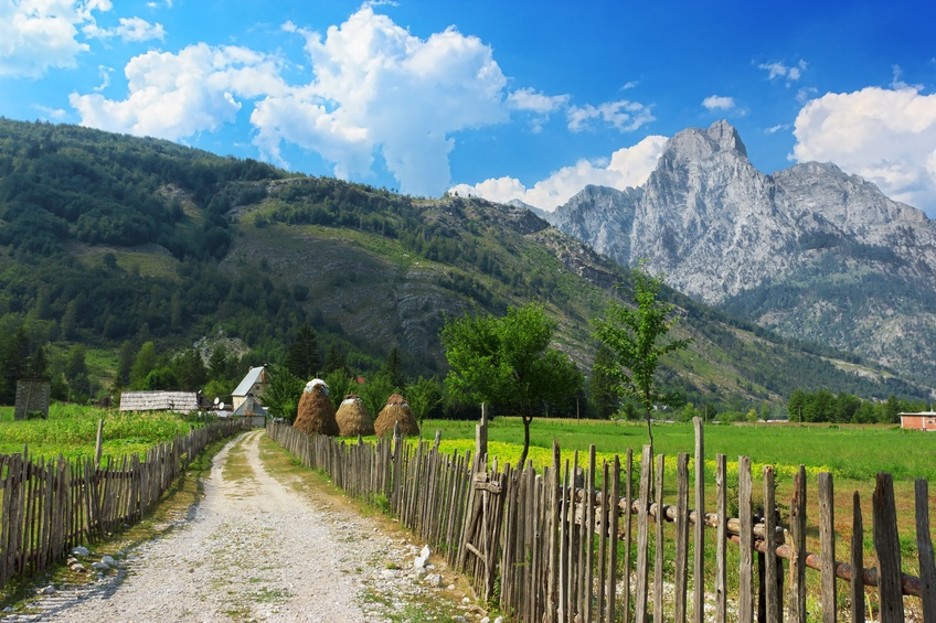 albania accursed mountains albanian alps village theth peak road