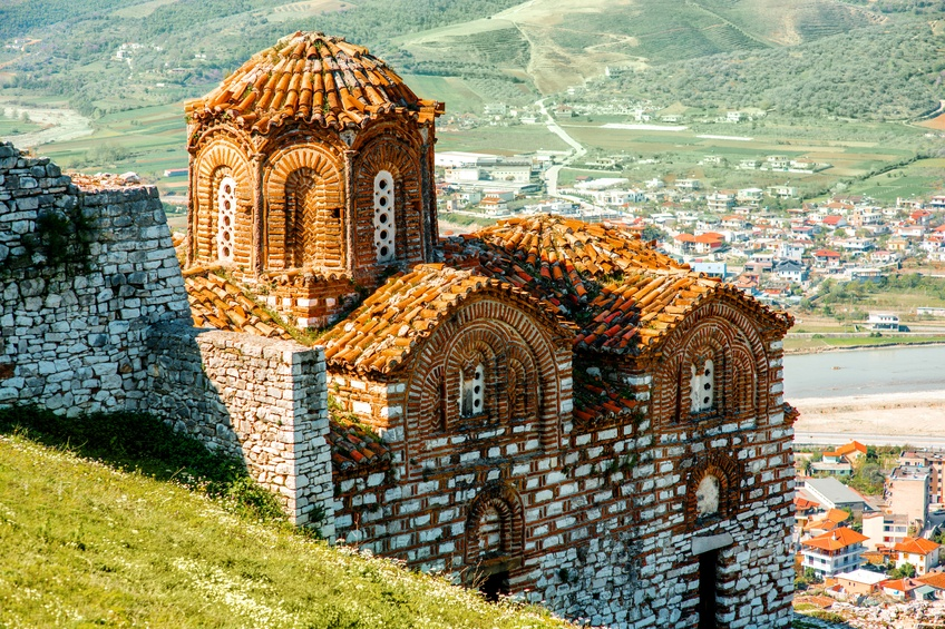 albania church landscape religion faith