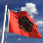 albania flag eagle red black sigil
